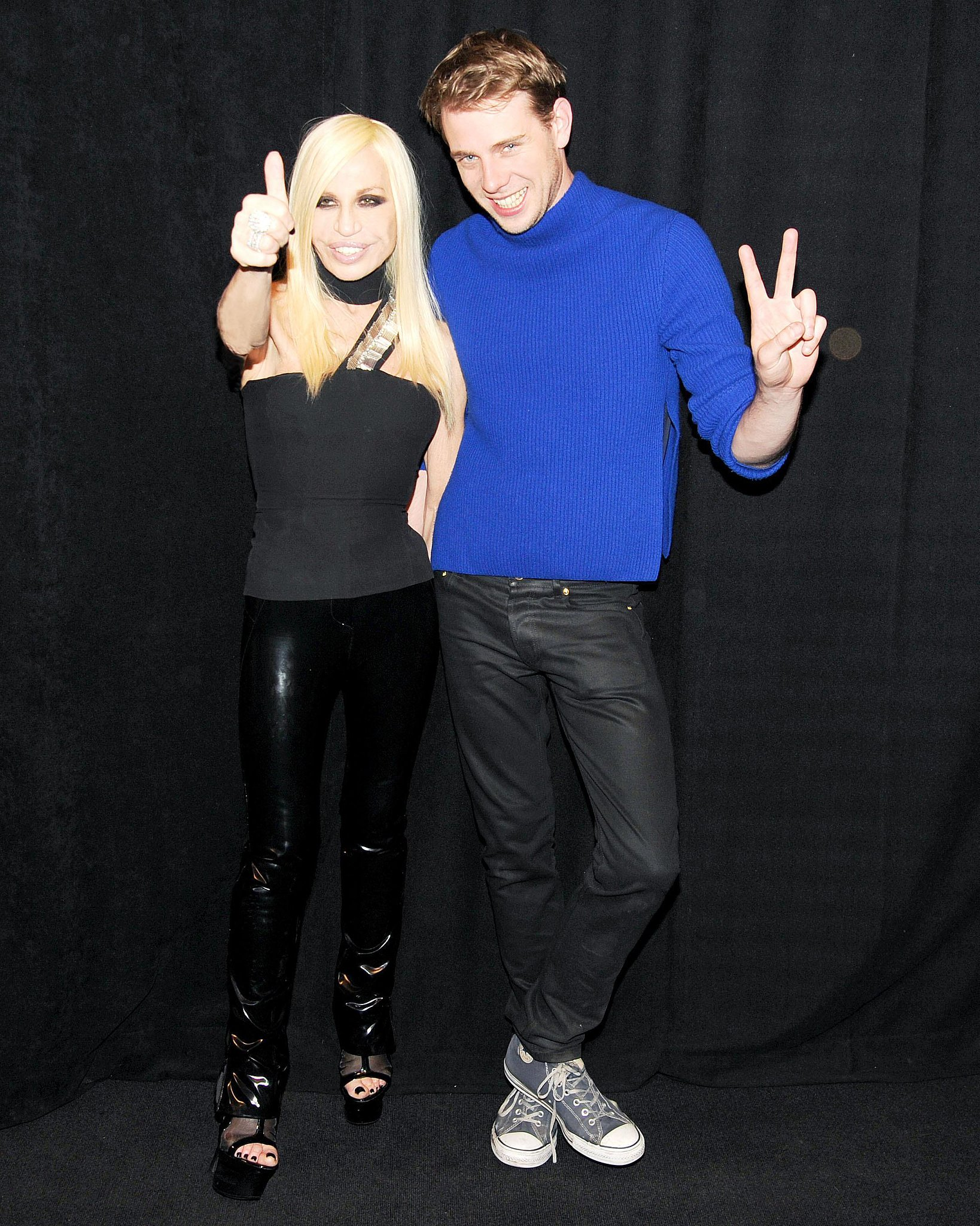 Donatella Versace and Jonathan Anderson at the launch party for their Versus collaboration. Source: Billy Farrell/BFAnyc.com