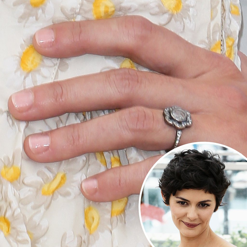 Audrey Tautou kept her nails basic with a pale hue that will go with all her outfits as she attends numerous events at Cannes.