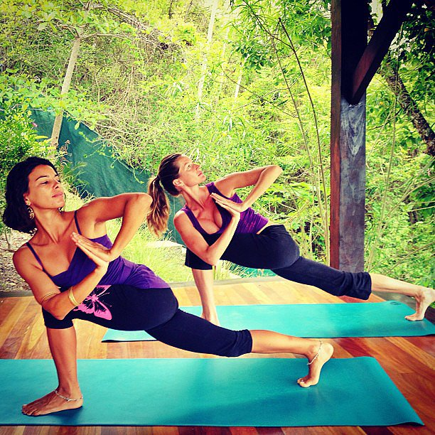 Gisele Bündchen showed off her yoga skills. Source: Instagram user giseleofficial