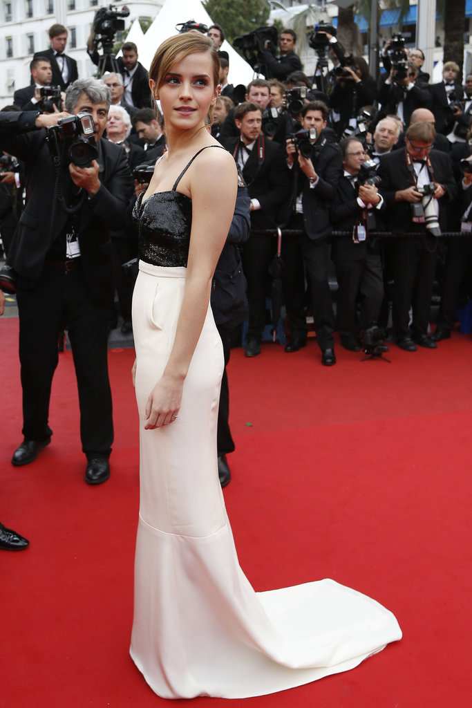 Emma Watson looked perfectly elegant in a black-and-white silk crepon Chanel Haute Couture dress when she took to the red carpet at the 2013 Cannes premiere of The Bling Ring.