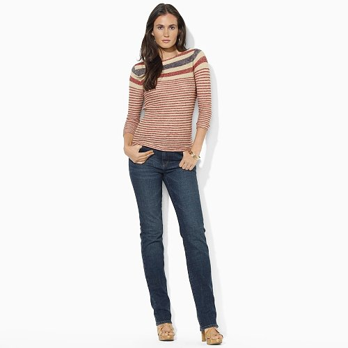 Ralph Lauren Jeans Co. Striped Linen Boatneck Top