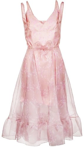 Christopher Kane Double strap ruffle dress