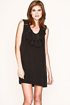 Joie Gilly Ruffle Dress in Caviar
