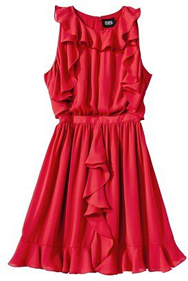 Prabal Gurung For Target® Ruffle Dress -Apple Red