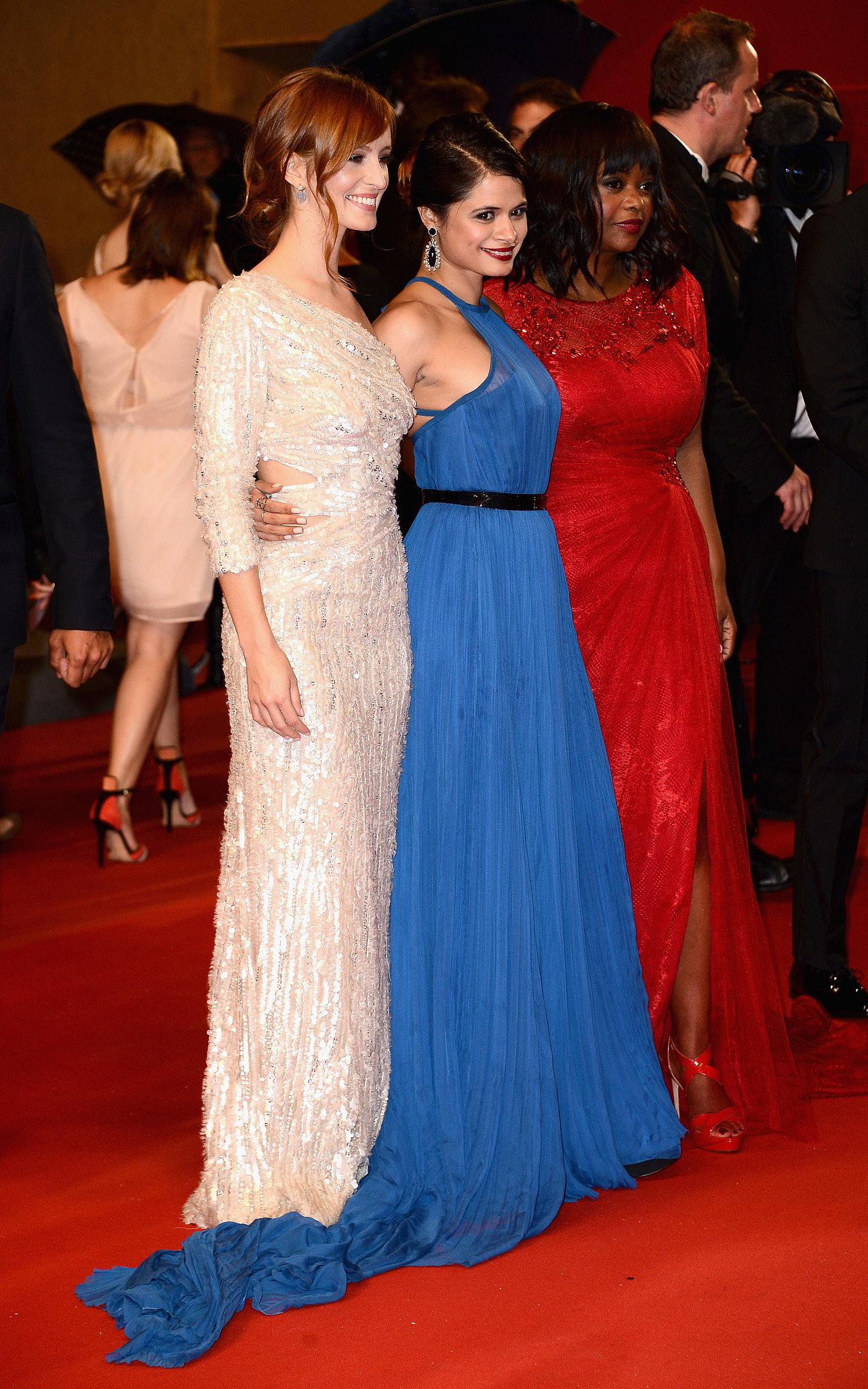 Ahna O'Reilly, Octavia Spencer, and Melonie Diaz were in the spotlight at the premiere of Fruitvale Station.