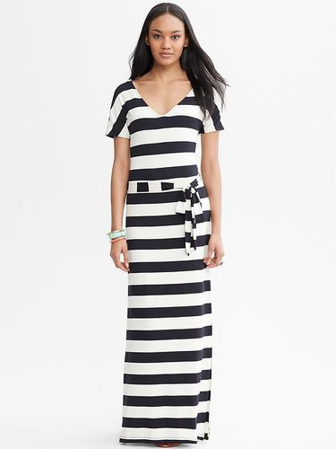 Striped Tie-Front Patio Dress