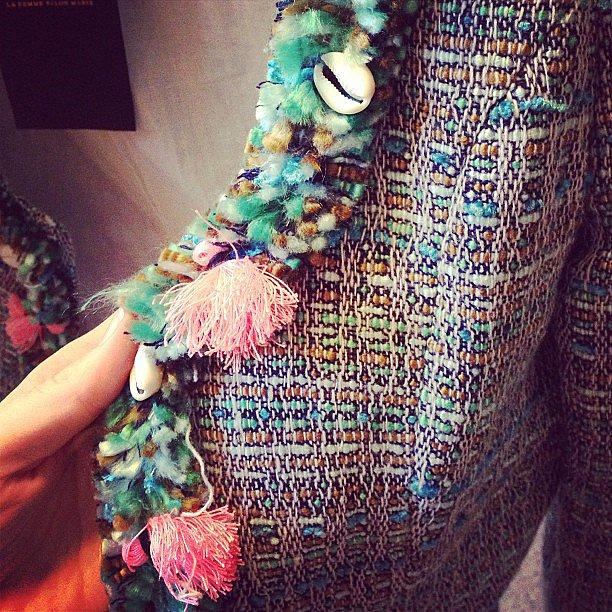 Shells and tassels adorned the edge of this pretty boucle jacket from Scotch & Soda. Naturally, we want it.