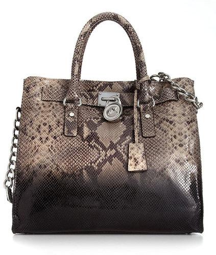 MICHAEL Michael Kors Handbag, Hamilton Ombre Python Print Tote