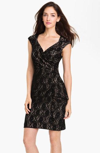 Maggy London Surplice Lace Sheath Dress