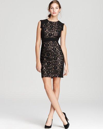 Adrianna Papell Dress - Cap Sleeve Lace Sheath