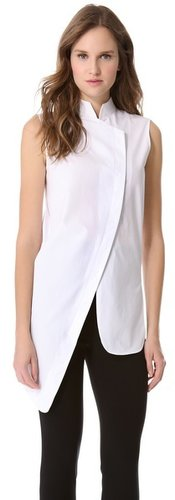 Mugler Asymmetrical Sleeveless Shirt