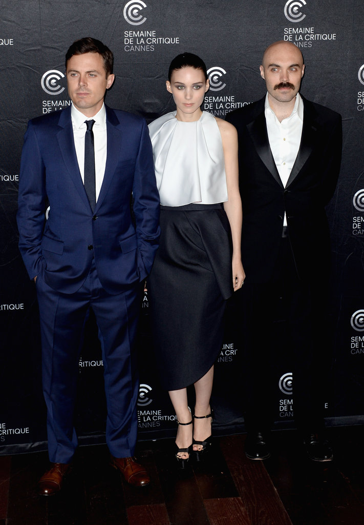 Rooney Mara got together with Casey Affleck and David Lowery for the Ain't Them Bodies Saints photocall.