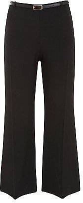Sienna Black High Waist Bootleg Trousers