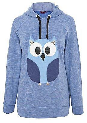 Inspire Blue Slub Owl Hoodie
