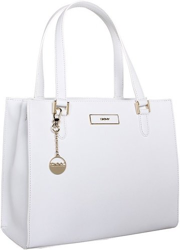 DKNY - Saffiano Leather Work Shopper (White) - Bags and Luggage