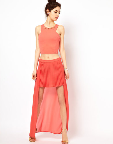 Oh My Love High Front Maxi Skirt