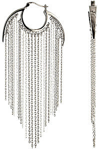 Agrigento Cable Fringe Hoop Earrings