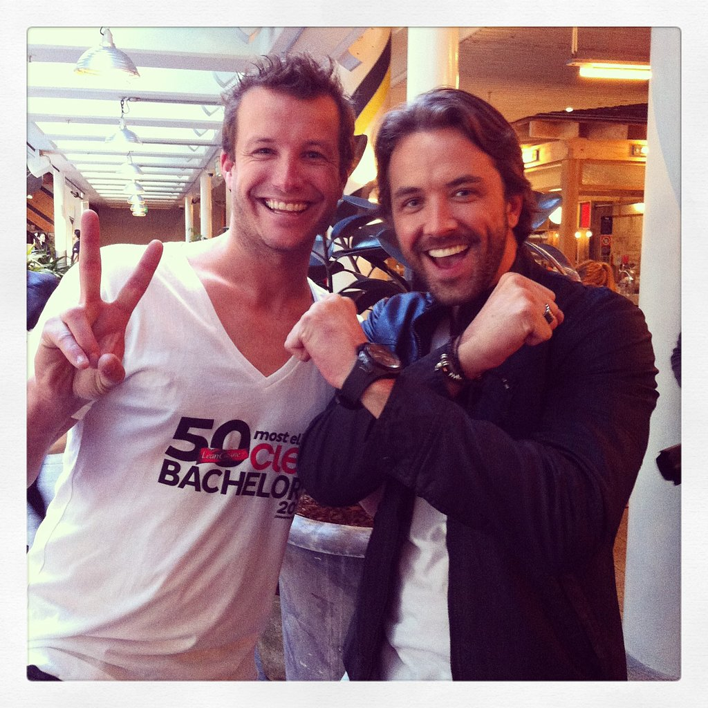 The X Factor host Luke Jacobz and The Voice host Darren McMullen show love for the other's show.