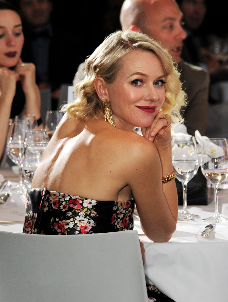 Naomi Watts smiled during dinner on Sunday at IWC Schaffhausen's party at the Cannes Film Festival.
