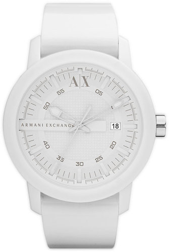 AX Armani Exchange Rubber Strap Watch