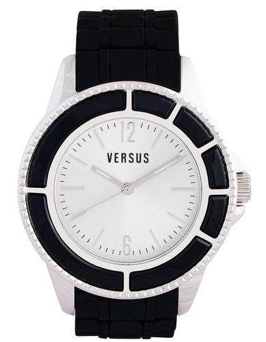 Versus by Versace Watch, Unisex Tokyo Black Rubber Strap 42mm AL13LBQ802 A009