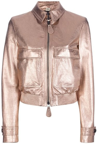 Burberry London metallic cropped jacket