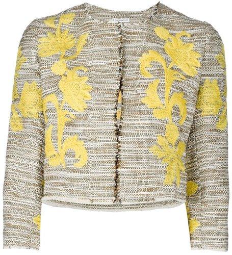 Shirtaporter floral cropped jacket