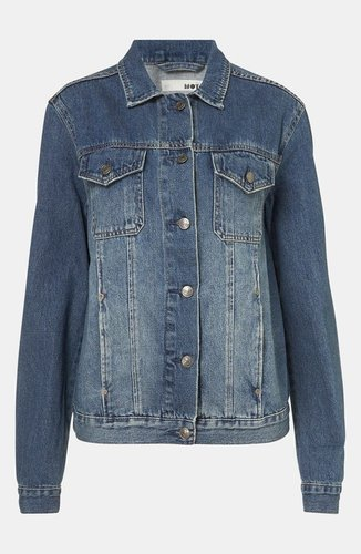 Topshop 'Sylvie' Oversized Denim Jacket