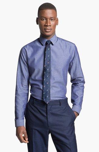 Paul Smith London Slim Fit Chambray Dress Shirt