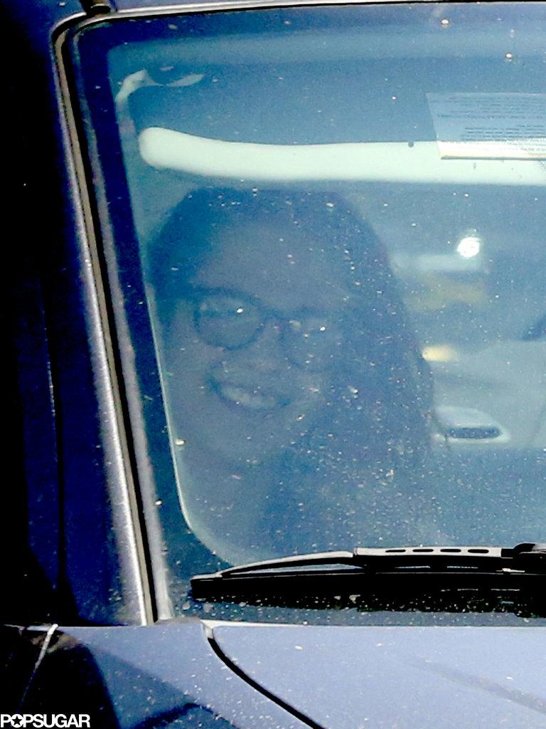 Kristen Stewart had a smile on her face.