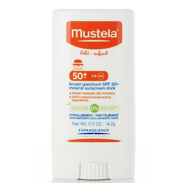 Mustela's Broad Spectrum Mineral Sun Stick ($16) is part of the European brand's new line of sun care using natural filters titanium dioxide and zinc oxide to filter the sun's rays. The paraben-free, phthalate-free, and phenoxyethanol-free formula received the EWG's high rating.