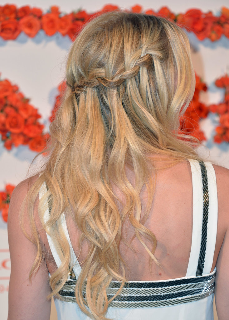 Jennifer Morrison's waterfall braid is the perfect complement to your beachy waves during Summer.