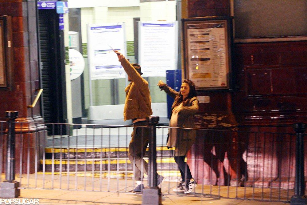 Channing Tatum and Jenna Dewan hailed a cab in London.