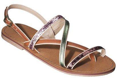 Women's Mossimo® Watson Flat Strappy Sandal - Tan/Gold