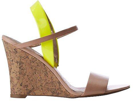 Ashlyn Colorblocked Slingback Wedge Sandals