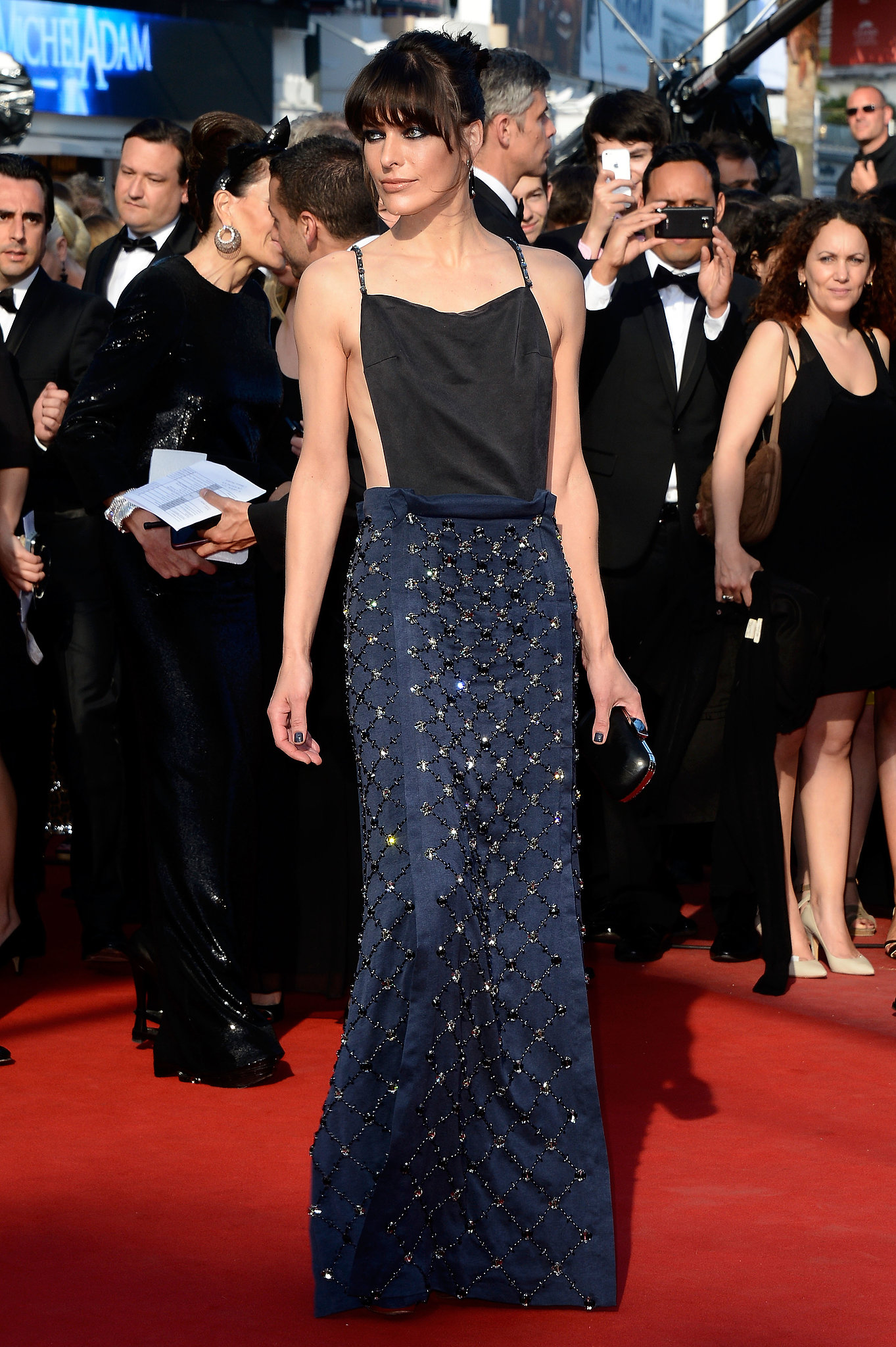 Milla Jovovich arrived at the Cleopatra premiere in Cannes on Tuesday.