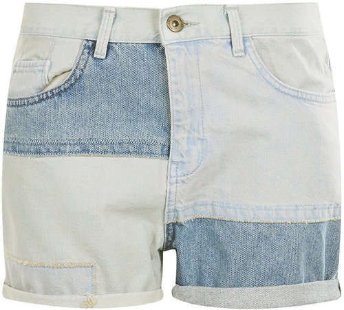 MOTO Patchwork Denim Boy Short