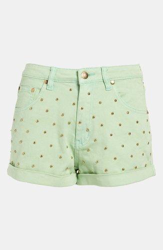 MINKPINK 'Cheeky Stud' High Waist Shorts
