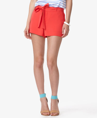 FOREVER 21 Essential Tie-Front Woven Shorts