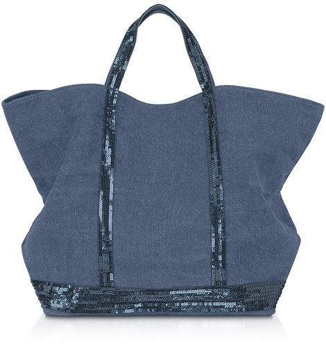 Vanessa Bruno Les Cabas - Large Sequined Linen Tote