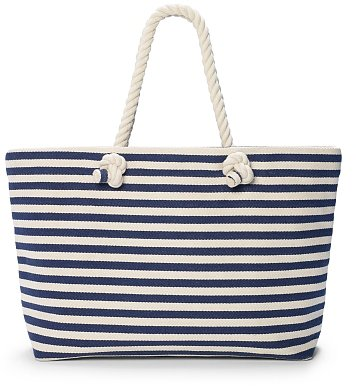 Hat Attack Striped Beach Tote