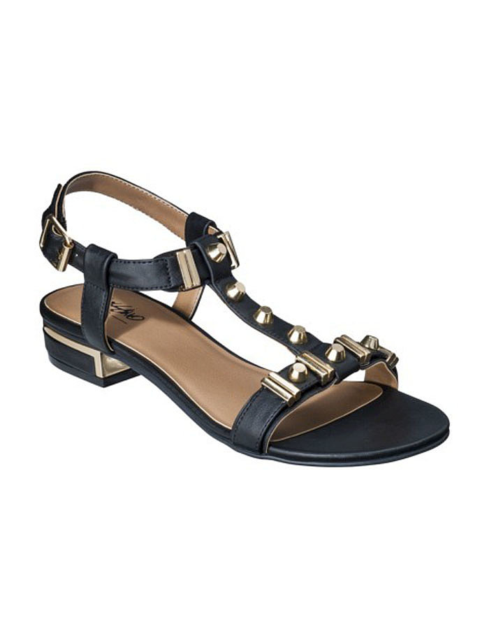 Add a dash of black and gold to your look with these embellished Mossimo sandals ($23).