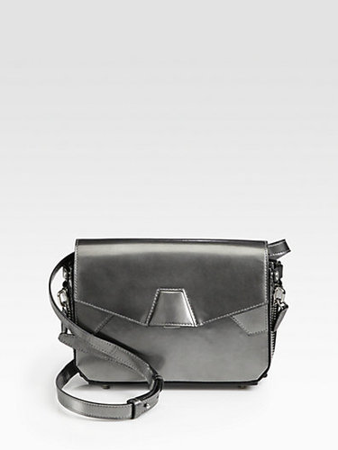 Alexander Wang Tri-Fold Metallic Leather Shoulder Bag