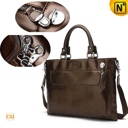 Mens Leather Business Bags CW971027 - cwmalls.com