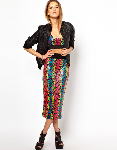 Bitching & Junkfood Sequin Midi Skirt