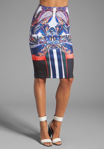 Clover Canyon Geometric Owl Neoprene Skirt