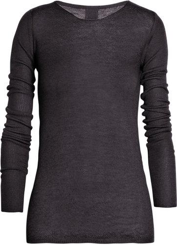 Rick Owens Crew-neck cashmere sweater