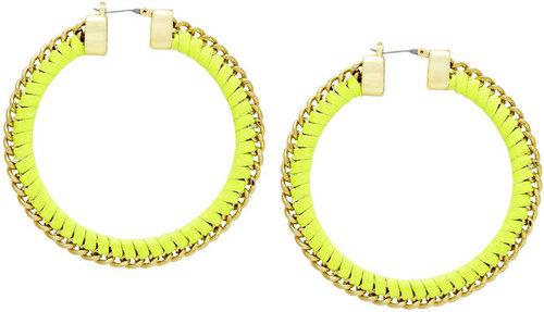 Woven Chain Hoops