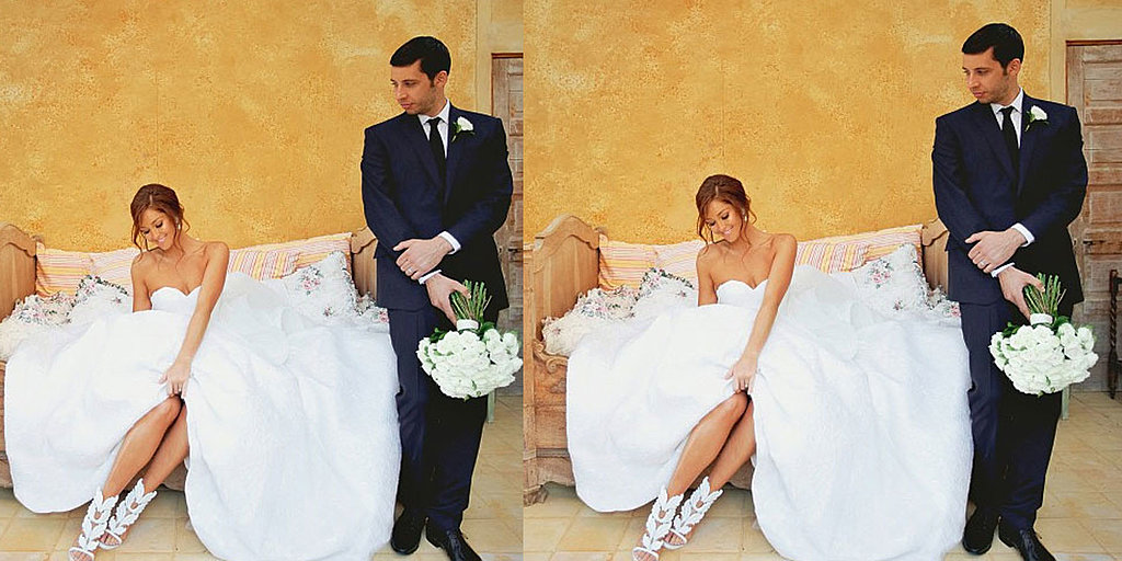 Zoom in on Erin McNaught's Custom Steven Khalil Wedding Gown (Updated!)
