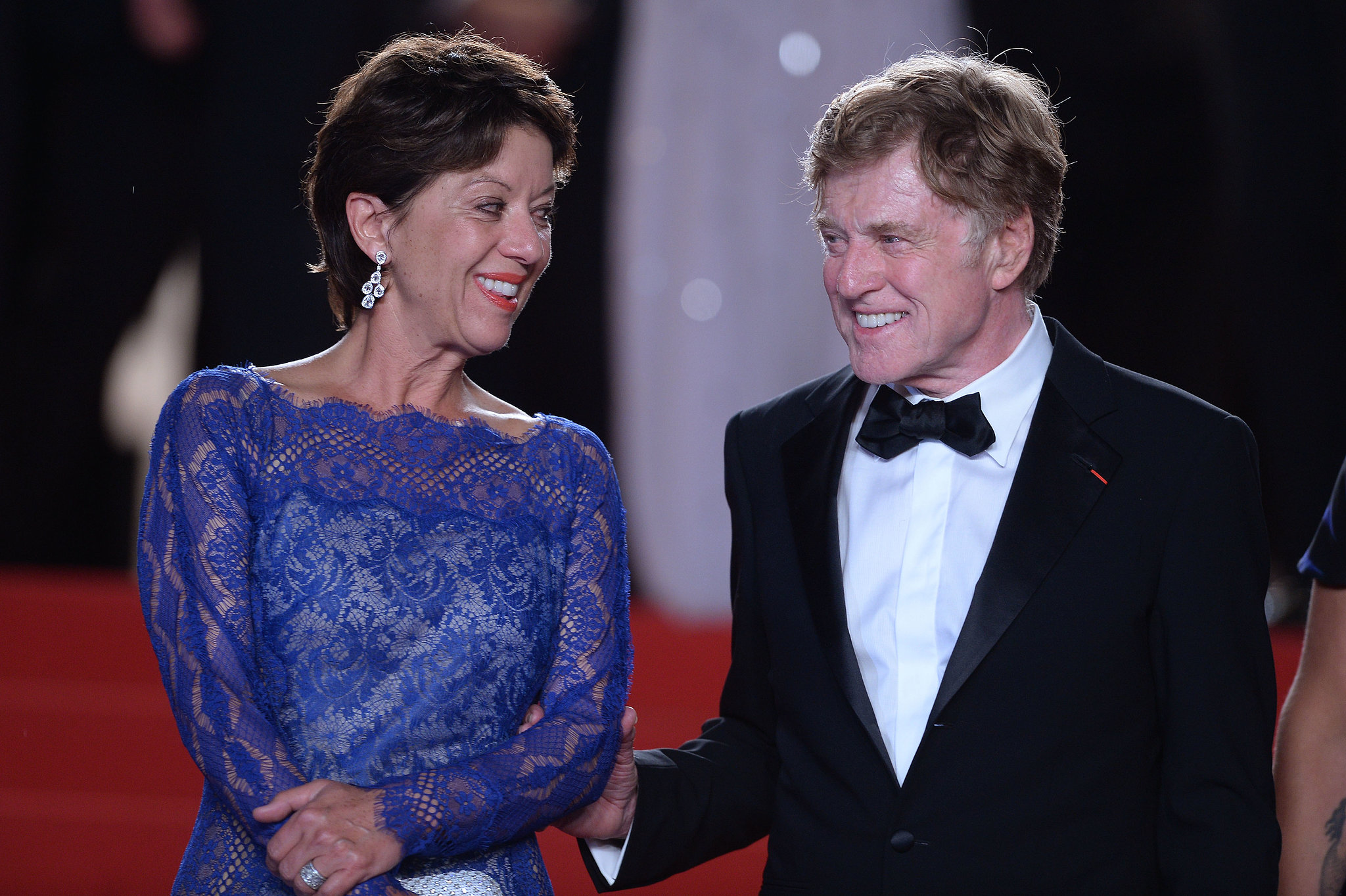 Robert Redford smiled with his wife, Sibylle Szaggars, at the All Is Lost premiere on Wednesday night in Cannes.